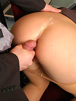 Sultry female co-worker doesn�t mind wild dildotoying and hot ass-screwing